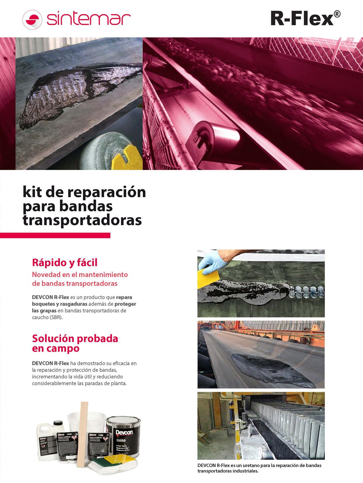 Kit de reparación para bandas transportadoras R-Flex