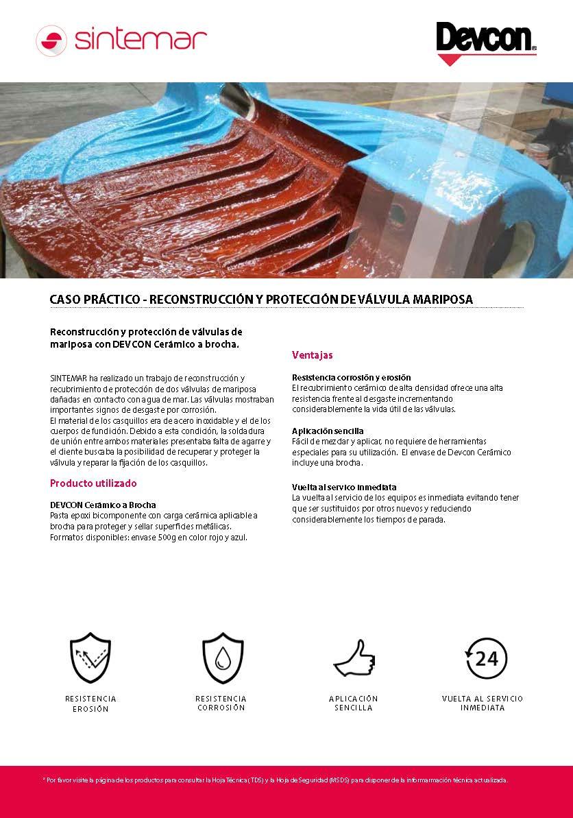 Reconstrucción y protección de válvula mariposa