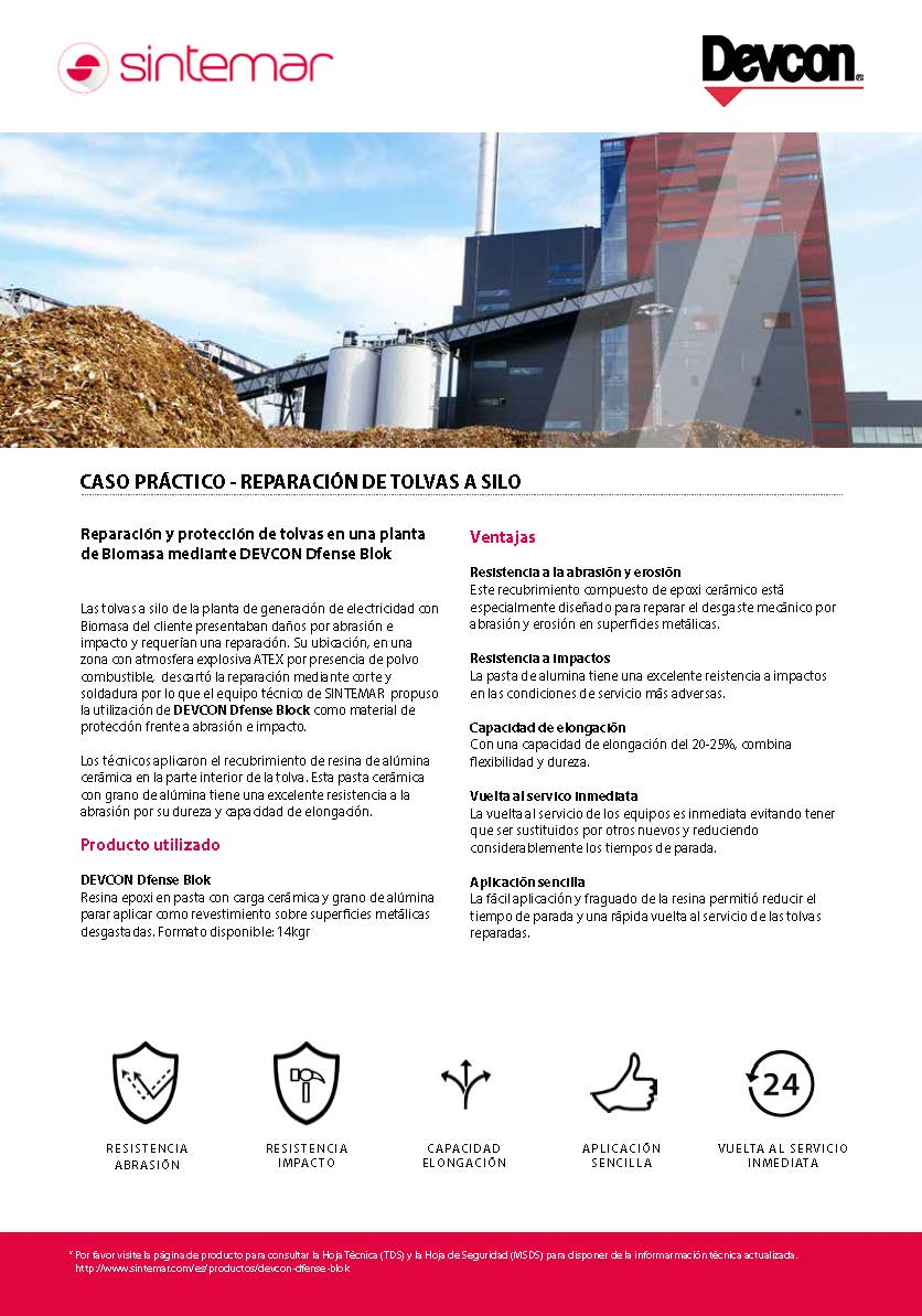 Reparación de tolvas a silo