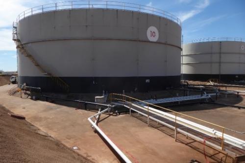 Rehabilitación de tanques de almacenamiento de crudo Ungani
