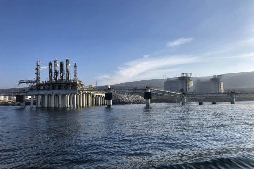 Estado inicial de pilotes oxidados en plataforma Offshore