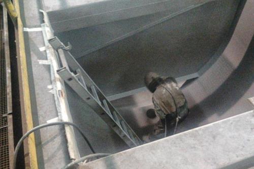Recuperación y protección de las celdas de flotación dañadas