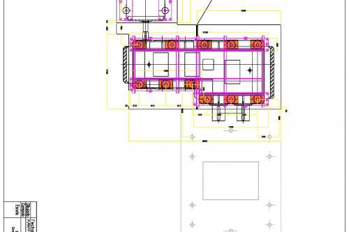 Diseño taqueado de reconstrucción de bancada y grouting motor y reductor perfil