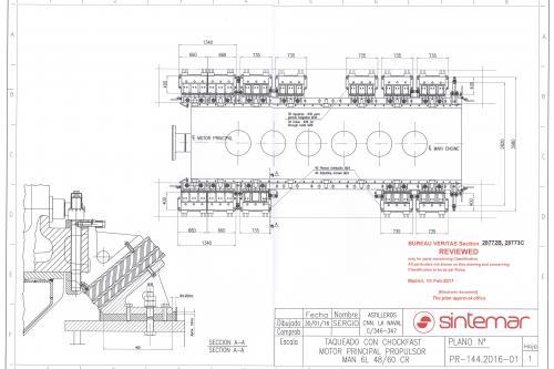 Diseño de plano de anclaje de motor principal