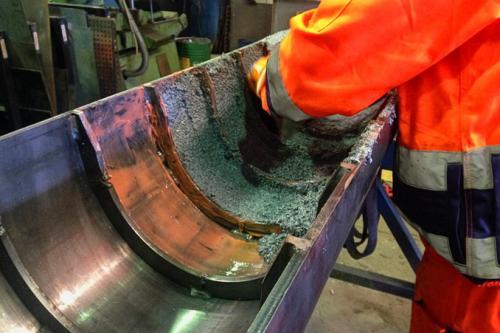 Protección de tubo de climatización de molino con DEVCON Dfense Blok