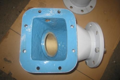 Válvula reparada con revestimiento pasta cerámica DEVCON.