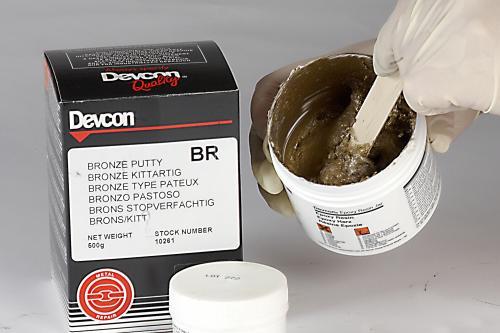 DEVCON Pasta con carga metálica de Bronce