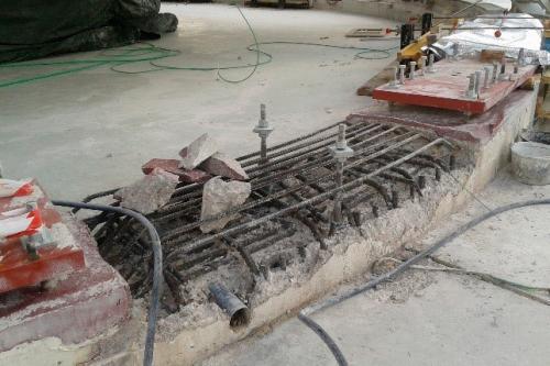 Renovación de pista de rodadura en una antena de la NASA