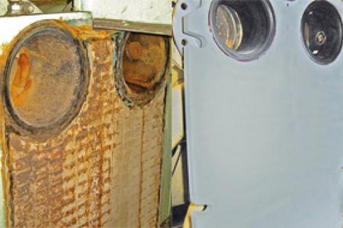 Reparación de tabla de intercambiador mediante soldadura en frío