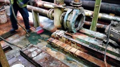 Reparación y protección de cubeto de contención con ácido clorhídrico