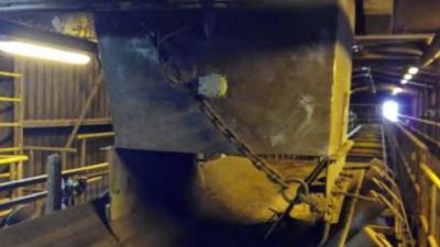 Protección de las tolvas en planta de generación de electricidad