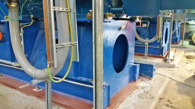 Proyecto As Pontes - Detalle del grouting en bastidor del motor y bomba