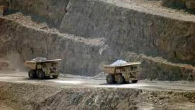 Grouting de trituradoras en una mina de cobre