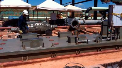 Montaje de 6 sistemas de bombeo para inyección de agua