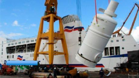 """Proceso de instalación del """"scrubber"""" en el astillero Astander"""
