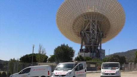 SINTEMAR, Fijación de antena para el espacio profundo NASA