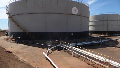 Tanque de crudo de la terminal Wyndham en Australia