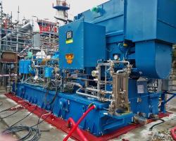 Instalación de compresor en unidad de hidrodesulfuración