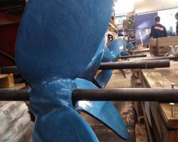 Reparación y protección de hélices de agitadores