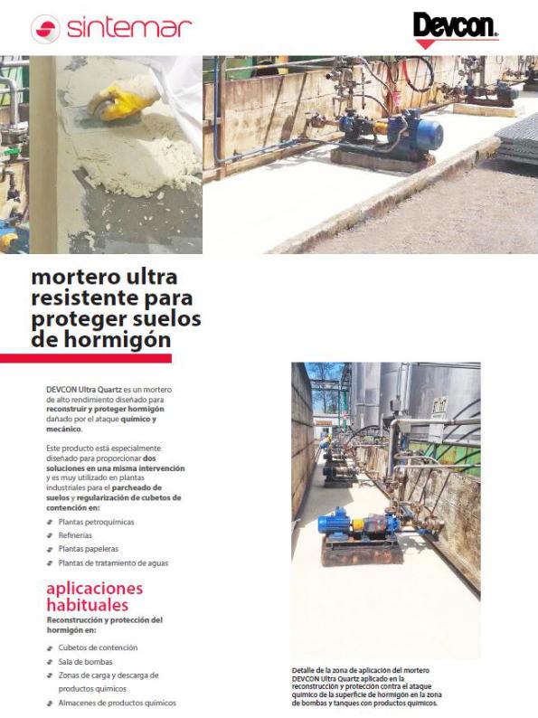 Mortero para la reconstrucción y protección del hormigón Ultra Quartz